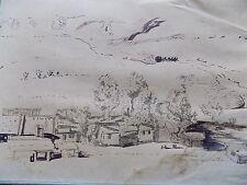 Old Loves Creek Homestead Australia Original Drawing Sketch Antique Ross Map