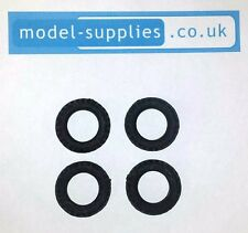Britains Beetle Lorry Reproduction Black Hollow Fit Rubber Tyres (x4) 25mm O/D