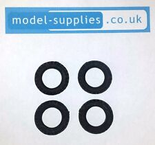 Britains Beetle Lorry Reproduction Black Hollow Fit Rubber Tyres 25mm O/D