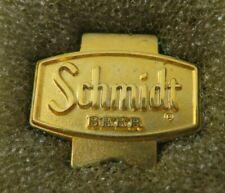 Rare Vintage Schmidt Beer Pin Lapel Tie Tack Gold Tone in Box Htf