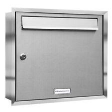 1er Premium Unterputz Edelstahl Briefkasten Anlage 1 Fach V2A Postkasten A4