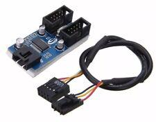 Cabezal USB 9Pin placa madre 1 a 2 Multiplicador De Puertos Divisor 30cm Cable de extensión