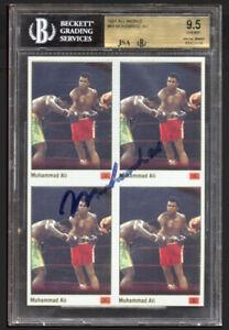 1991 Muhammad Ali Auto All World #69 4-Card Panel - (BGS) 9.5 Card - JSA 8 Auto