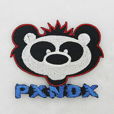 New Iron On Color Rock Music Band PXNDX Embroidered Applique Patch Panda For DIY