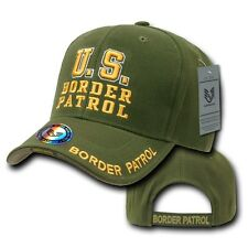 Olive Green Border Patrol Police Cop Sheriff Adjustable Baseball Ball Cap Hat