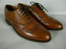 BOSTONIAN CROWN WINDSOR MENS SIZE 12 D / B BROWN LEATHER WINGTIP OXFORDS 22192
