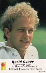 David Gower autograph hand signed photograph original cricketer England