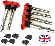 6x 06E905115D VW Audi R8 1.8T RED NGK Style Coilpack Coil Pack COPs W connectors