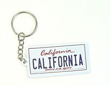 "California License Plate Aluminum Ultra-Slim Souvenir Keychain 2.5""x1.25""x0.06"""