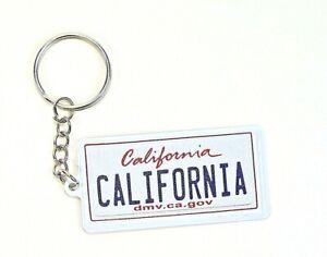 "California License Plate Aluminum Ultra-Slim Souvenir Keychain 2.5""x1.25""x0.06"""
