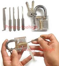 Unlocking tools / crochetage lockpicking locksmith Lock Pick Set + Padlock