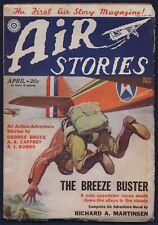 Fiction House AIR STORIES Aviation Pulp RUDOLPH BELARSKI Cover, April 1930, FINE