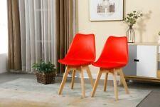 Sedie rossi in faggio per la casa