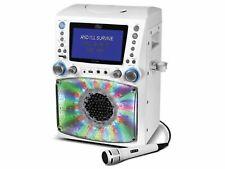 Singing Machine Stvg785W Cd/Cd+G Karaoke System with Lcd Disco Lights White