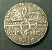 GERMAN SILVER PLATED MEDAL EXONUMIA TOKEN *** FROM THE SERIES HISTORICAL EVENTS