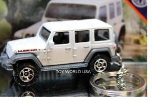 Custom Key chain 2018 Jeep Wrangler JL Unlimited Rubicon white