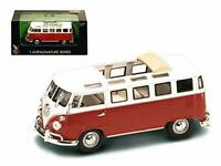 1962 Volkswagen Microbus Van Bus Red With Open Roof 1/43 Car by Road Signature
