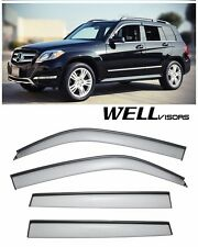 For 09-15 MB GLK WellVisors Side Window Delfectors Visors W/ Black Trim