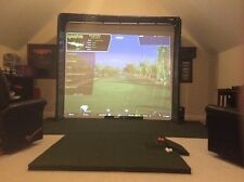 Golf Simulator  HD Impact Screen Frame 120 x 105/ side walls and mat for Skytrak