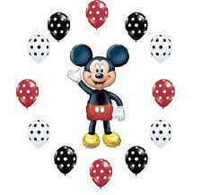 Jumbo Mickey Mouse Air Walker Balloon &Polka Dot Latex Birthday Party Decoration
