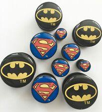 Joblot BATMAN and SUPERMAN PAIRS of Acrylic EAR PLUGS Expanders Screw fit.