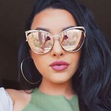 VictoryLip 2017 Fashion Cat Eye Rose Gold Mirror Sunglasses Women Brand Designer