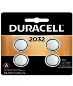 Duracell CR2032 Lithium Battery 3 Volt DL2032 2032 4 Pack