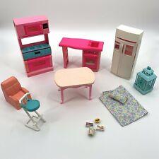 Vintage 1994 Barbie Kitchen House Furniture Accessories Lot