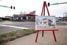 Fredericksburg Virginia 2400 Diner Oil on Canvas