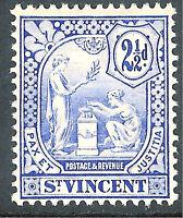 St Vincent 1907 blue 2.5d multi-crown mint SG97