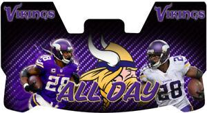 Custom Minnesota Vikings Adrian Peterson All Day Football Helmet Visor, W/ Clips
