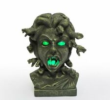 "Halloween 12"" Animated Lighted Medusa Bust - Light/Sound/Motion"