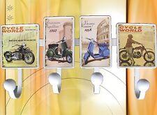 Garderobe 4 Motorrad Motive Klein&Hängeaufbewahrung Wand Türgarderoben & Haken