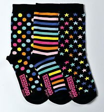 United Oddsocks Twinkle Size UK 12 - 5.5 Set of 3 Fun Patterned Odd Socks Girls