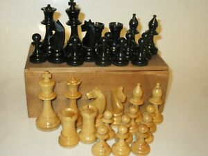 Vintage Wooden Chess Set 8cm