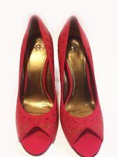 Joey Women's Shimmering Red High Heels Size EU 39 / US 8.5