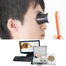 5.0 USB LED Iriscope Iris Analyzer Iridology Camera Pupilometer &Software Box A+