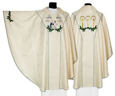Cream Gothic Chasuble for Christmas with matching stole 643-K25 us