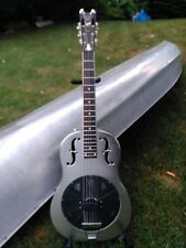 National ResoPhonic Delphi custom steel body resonator guitar with pickup