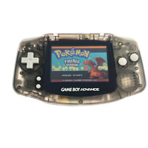 Game Boy Advance Console w/ AGS-101 Brighter Backlight Screen - Clear Black