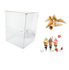 Ice Cream Cone Cabinet 9 Holes Clear Acrylic Waffle Cone Holder with Door