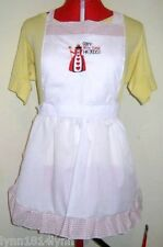 LADIES PICTURED QUEEN OF HEARTS COSTUME APRON Black/White or Red Made to order