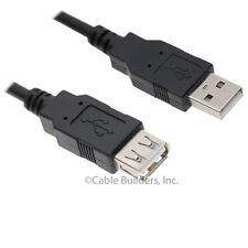USB EXTENSION CORD 6FT CABLE USB 2.0 TYPE A MALE to FEMALE HIGH SPEED BLACK