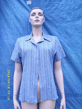 Polyester Collared Fitted Striped Tops & Shirts for Women