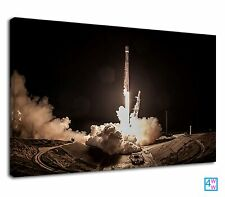 Stunning Spacex Space X Elon Musk Rocket Take Off Canvas Wall Art Picture Print