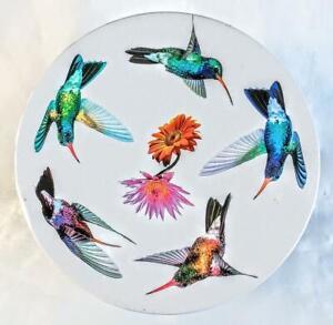 Paul Cardew Design Lidded Hummingbird Tin ~ 2010 ~ Signed. ~ England