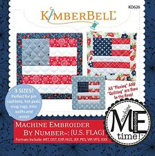 MACHINE EMBROIDER BY NUMBER U.S. FLAG MACHINE EMBROIDERY CD, From Kimberbell NEW