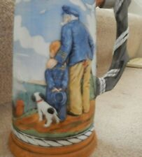 """Norman Rockwell, """"Out to Sea,"""" collector's stein, pre-owned, mint, limited edit."""