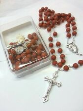 6MM Original Rose Petals Beads Scented Rosary-Blessed by Pope upon request-ITALY