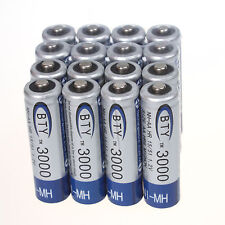 16pcs AA 3000mAh 1.2 V Ni-MH Rechargeable Battery BTY 2A Batteries